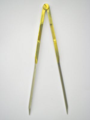 Topoplastic Kartenzirkel Inox mit Messingüberzug
