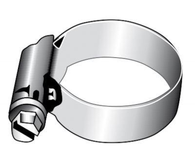 L´Ocean Schlauchschellen Edelstahl A2 AISI 304, 6mm- 100mm