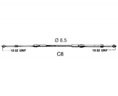 Ultraflex, C8 Schaltzug & Bowdenzug Universal