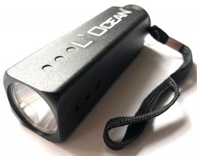 L´Ocean, Segler- LED Taschenlampe Carré, Schwarz