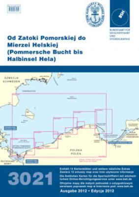 BSH- Sportbootkartensatz 3021 Pommersche Bucht bis Halbinsel Hela