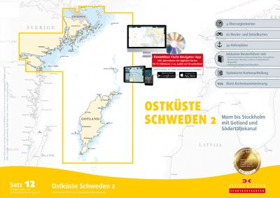 Delius Klasing Seekartensatz 12 Ostküste Schweden 2 Papier & Digital