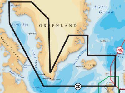 Navionics, Vektorkarte Gold 20XG, Grönland & Island
