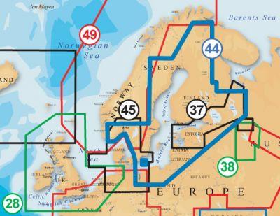 Navionics Vektorkarte Gold 44XG Ostsee Finnland Schweden