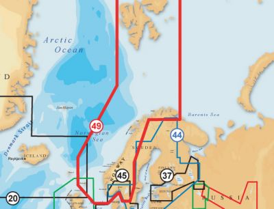 Navionics, Vektorkarte Gold 49XG, Norwegen & Spitzbergen