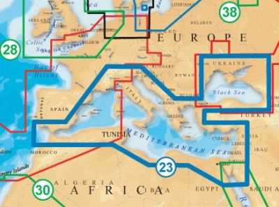 Navionics Vektorkarte Gold 43XG Mittelmeer Schwarzes Meer