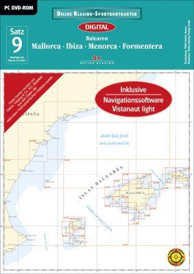 Digitale Seekarte Satz 9 Balearen