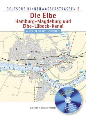 Delius Klasing, Binnenkarte Die Elbe, Hamburg - Magdeburg, Elbe-Lübeck-Kanal