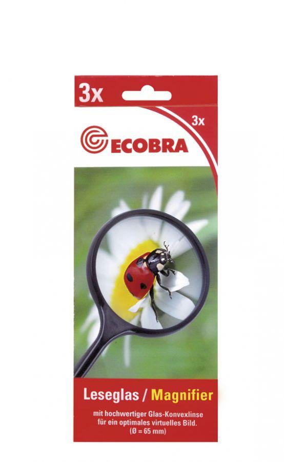 45mm Schiebelupe mit LED Beleuchtung Ecobra