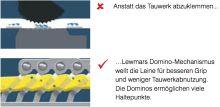 Lewmar Fallenstopper D1 Dreifach 6-8mm Grau
