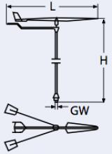 Marinetech Edelstahl- Verklicker Windking 40cm