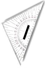 L`Ocean Kursdreieck & Navigationsdreieck 26cm