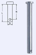 Steckbolzen 9,5 x 26mm, A4 Edelstahl