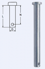 Steckbolzen 10 x 34mm, A4 Edelstahl