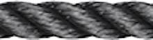 Liros, PES Tauwerk Schwarz, 6 mm - 12 mm