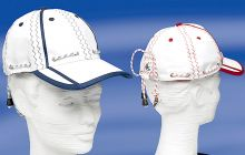 C4S, Segelmütze Baseballcap Seacap, Weiss- Rot / Marine