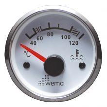 Wema, Anzeigeinstrument Wassertemperatur Silber