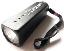 L´Ocean Segler- LED Taschenlampe Carré schwarz