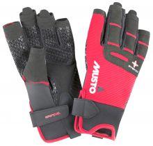 Musto, Segelhandschuh Performance Glove S/F Kurz, Rot