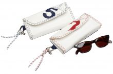 C4S,  Brillenetui Sea Glasses, Navy/Rot