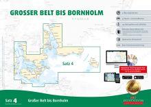 Delius Klasing Seekartensatz 4 Grosser Belt - Bornholm Papier & Digital 2017