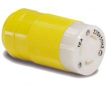 Hubbell, Landstromstecker gelb, NEMA 230V 16A