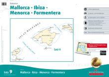 Delius Klasing, Seekartensatz 9, Balearen Mallorca, Menorca, Ibiza, Formentera, Print & Digital