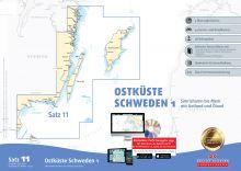 Delius Klasing, Seekartensatz 11 Ostküste Schweden 1, Ausgabe 2017/2018