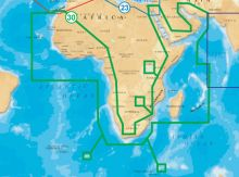 Navionics, Vektorkarte Gold 30XG Afrika, Mittlerer Osten