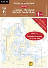 Digitale Seekarte Satz 6 LimfjordDänische Nordseeküste Skagerrak