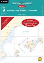 Digitale Seekarte Satz 9, Balearen
