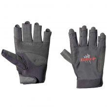 Jeantex, sailing glove Russel short fingers, black