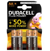 Duracell, Batterie Plus Power Alkaline AA (MN1500), 4-er Pack