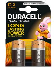 Duracell, Batterie Plus Power Alkaline C (LR14) Baby, 2-er Pack