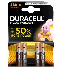 Duracell, Batterie Plus Power Alkaline AAA (MN2400), 4-er Pack