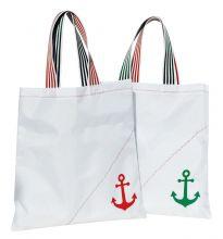 C4S, Einkaufstaschen Maritime Shopping Bag, Rot-Grün