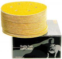 Mirka, Gold Schleifscheiben 7-Loch Klett P120, 150mm