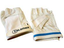 Talamex, Segelhandschuh Leder Kurzfinger, weiß