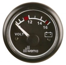 Wema, Anzeige Voltmeter Spannung 12V